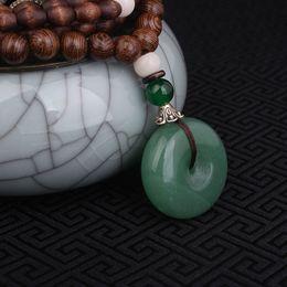 Wholesale collana di gioielli Evade Peace Aventurine Quartz collana verde Nepal gioielli fatti a mano sandali vintage lunga collana di pendenti