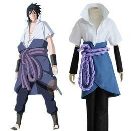Wholesale Men Cosplay Suit - Naruto Cosplay Costume Konoha Uchiha Sasuke 4th Generation Suit with Nursing