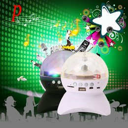 Wholesale Led Rechargeable Dj - Wholesale- P Colorful LED Speaker Portable Rechargeable Stage Light Bluetooth MP3 Speaker FM Radio For Party KTV Disco DJ