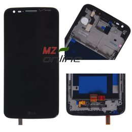Wholesale Lg Touch Screen Verizon - Wholesale-Free Shipping For LG Optimus G2 VS980 Verizon LCD Display +Touch Screen Digitizer Assembly With Frame Black