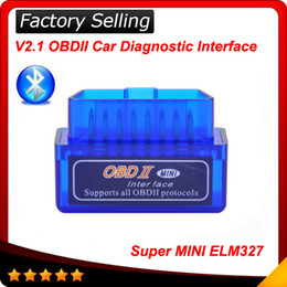 Wholesale obd code readers - 2016 V2.1 Super Mini ELM327 Bluetooth Interface obdii obd ii Diagnostic Tool elm 327 works on Android Windows Symbian