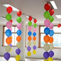 Wholesale Thick Latex - 200pcs lot 12 Inch Latex Balloons Thick Tail Balloon Kids Birthday Party Wedding Decor Inflatable Toy Baloon baloes de festa