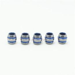 Wholesale Blue Parachute - 5pcs 11mm Tiremet Titanium Ti Cool Knife Key Jewelry Parachute Cord Bead Pendant Lanyard-Blue