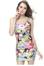 Wholesale Slimming Batch - Star explosion of digital printing package hip waist slim high-grade vest sleeveless dress from a batch