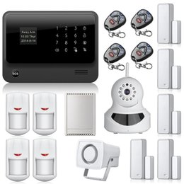 Wholesale House Wifi Camera - G90B WiFi alarm Internet GSM GPRS SMS OLED Home House Security Alarm System APP Control + IP Camera wifi App Integrated In Alarm App