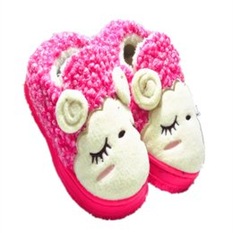 Wholesale Baby Home Shoes - Wholesale-Male And Female Baby Shoes Indoor Shoes Cotton Trailer Home Package With Heavy-Bottomed Shoes Warm Children'S Home TCS9013