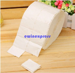 Wholesale Art Pads - Roll of 500pcs Lint Freeship Nail Art Wipes Paper Pad Gel Acrylic Tips Polish Remover Cleaner