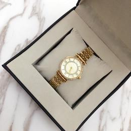 Wholesale Inlay Buckle - Casual Luxury Women Quartz Watches Three chain Bracelet Tassels style Gold Watch strap Rhinestone Diamond inlay Clock dial 3 Colors
