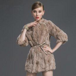 Wholesale Otter Coats - Wholesale-Free shipping!Otter clothing medium-long rex rabbit hair fur coat 2015 patchwork women's plus size Winter coats