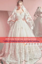 Wholesale Wedding Winter Wrap Veil - 2016 zuhair murad wedding dresses plus size wedding gowns scoop sweetheart strapless neckline bridal gowns with veils