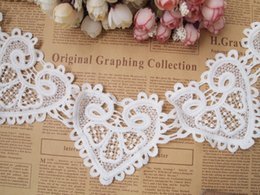 Wholesale Bridal Lace Yard - Lace White Venise Lace Trim Embroidery Scalloped Lace for Bridal, Millinery, Wedding Gowns, Victorian - 10 yards Lot - Free Shipping