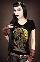 Wholesale Sexy Owl Shirt - 2015 Fashion 3D Owl printing Design Women t-shirt Summer Sexy Stretch tee Casual Tops Tees