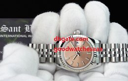 Wholesale Rose 31 - Factory Supplier Luxury Brand 31 mm White Gold & Stainless Datejust Rose Index Dial 179174 Automatic Women Watch Watches hot sale
