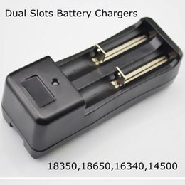Wholesale Lithium Ion Battery Wholesale - 18350 18650 li-ion battery EU US charge double dual slots charger universal rechargeable lithium ion batteries charger for E Cigarette DHL