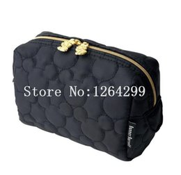 Wholesale Storage Bags For Children - New Fashion Mickey Girls Woman Nylon Black Cosmetic Bags Cases for Children Travel Cosmetic Bag Storage Makeup Cases