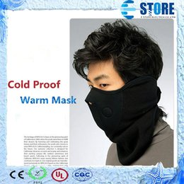 Wholesale Neck Ear Warmer - Thermal Neck Warmer Fleece Balaclavas Headgear Winter Skiing Ear Windproof Warm Face Mask, Motorcycle Cold Proof Scarf,Free shipping,A