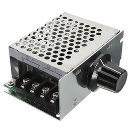 Wholesale Voltage Dimmer - 4000W 220V AC SCR Voltage Regulator Dimmer Electric Motor Speed Controller NEW High Quality