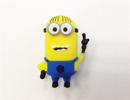 Wholesale Despicable Usb Flash Drive - 100% real capacity 2pcs 8GB novelty cartoon Minions Despicable Me 2 USB 2.0 usb flash drive pendrive memory stick retail package goodmemory