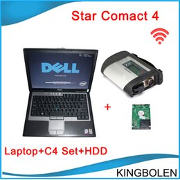Wholesale Diagnostic Benz C4 - 2017 MB star new compact 4 diagnostic tool for Mercedes Benz with Dell Laptop & HDD 2014.05 newest software SD Connect C4 with WIFI