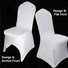 outdoor furniture sofa sets Desconto Casamento do estiramento capas de cadeira universal branco poliéster spandex capa para casamentos banquete dobrável do hotel decoração do partido decoração