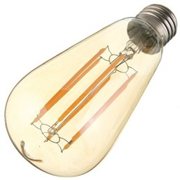 Wholesale E27 Globe Lamp - E27 ST64 2W 4W 6W8W edison light bulb Vintage Retro COB LED Filament Light Bulb Lamp Warm White 85-265V led light bulbs