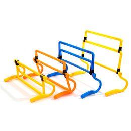 Wholesale Accessories Training - Outdoor Sport Soccer Hurdle Football Training Barrier Frame Football Practise Adjustable Hight Hurdles Shrink Fold Mini Hurdle