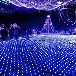 ha portato le luci nette fredde Sconti 2x3 m 210 leds Led Net Light Tenda Lights Xmas Fairy Flash Lights Led Stringhe Decorazione di nozze di Natale