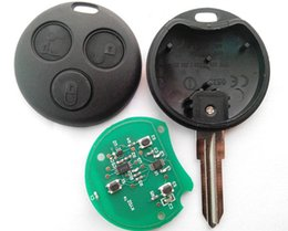 Wholesale Mercedes Key Free Shipping - blank key remote control for Mercedes Benz smart 3 button remote key 433MHZ 2pcs lot free shipping