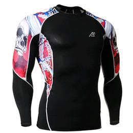 Marque Original Mens Longs Bodybuilding Chemises Tight Shirt Maillots Compression Courir Gymnastique Chaud Tshirt Vêtements SJ017 ? partir de fabricateur
