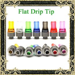 Wholesale Drip Tips Flat Mouth - Newest 510 Threading Drip Tips Colorful Flat Mouth Drip Tips With Heat Sink Clear Colorful Flat Mouthpiece Free Shipping