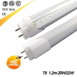 Wholesale Led Tube T8 18w Feet - 18W 20W 22W 120cm 4 feet T8 LED Tube Light 1.2m High Brightness 2835 SMD AC85-265V Led Fluorescent Bulb Lamp White Cool white Warm white