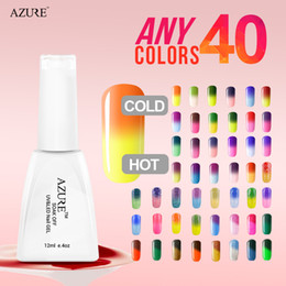 Wholesale Nail Color Brands - Stylish Brand Azure temperature gel 40pcs lot Soak Off nail color glue professional nail gel polish reasonable price