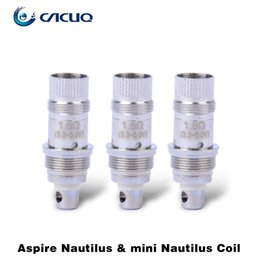 Wholesale Stainless E Cigarette - Aspire Mini Nautilus BVC Coil Head Mini Nautilus Replacement Coil 1.6ohm Stainless Steel 100% Original Aspire E Cigarette Vaporizer Coil