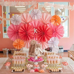 Wholesale Cheap Nursery - Free Shipping 10pcs Lot 20cm Event & Party Supplies  Birthday Party Decorations Kids Cheap Paper Flower Fans  Nursery
