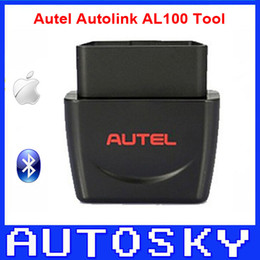 Wholesale Easy Scanner - New Arrival Autel Autolink AL100 OBDII EOBD Scanner Easy & Fast Professional Diagnosis Support Iphone& Ipad IOS System AL 100