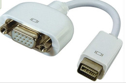 Wholesale Apple Dvi Adapter - Mini DVI to VGA Cable Adapter for Apple Macbook Pro Air