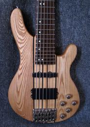 hohlkörpergitarre l5 Rabatt Hals durch Esche Body 6 String Bass E-Gitarren, Aktive Tonabnehmer, China Guitarras Musikinstrumente, Freies Verschiffen