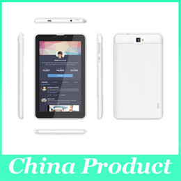 "Wholesale China Inch Android Phones - 2015 Newest 7"" Dual core 3G phablet 1G 8GB Android 4.4 GPS MTK8312 Phone Call tablet GPS WIFI 002758"