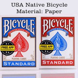 Wholesale Pc Card Standard - Original Bicycle Poker 1 Pcs Blue Or Red Regular Bicycle Playing Cards Rider Back Standard Decks Magic Trick Free Shipping