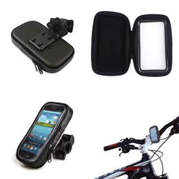 Wholesale Handlebar Bag For Iphone - S5Q Motorcycle Bike Handlebar Holder Mount + Waterproof Bag Case For Cell Phone AAADKP
