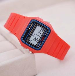 Wholesale Chronograph Watch Cheap - Fashion Luxury Men's Led Watch alarm clock Men women's F-91W watches Cheap F91W fashion thin LED watches