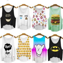 Wholesale Khaki Shirts For Women - 2015 New Women T Shirt Summer Women Tops Emoji   Girl Print T-shirt Women Casual Tee Tops For Women Blusas