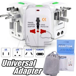 Wholesale Universal Shutter - AC Universal Travel Wall Plug Adapter World Wide Slim Portable Smart Outlet Charger Surge Protector W  Built-In Safety Shutters
