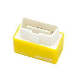 Wholesale Drive Box Bmw - Free Shipping!2015 Hot Sale OBD2 Chip Tuning Box NitroOBD2 For Benzine Car Chip Tuning Box Plug and Drive Nitro OBD2
