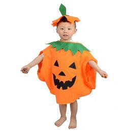 Wholesale Halloween Pumpkin Mascot - Fashion Non-woven Pumpkin Costume Modeling kids Costume Adult Costume Masquerade Party Halloween mascot costume including top+ha