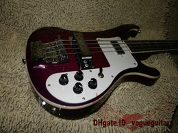 Wholesale Maple Bass - New Arrival Purple 4 Strings Rick 4003 Electric Bass Free Shipping Musical instruments A12356.