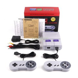 Wholesale Nes Snes - Super Famicom Mini SFC TV Handheld Game Console Entertainment System Buit-in 400 Classic games SFC NES SNES Games Controllers 8 Bit