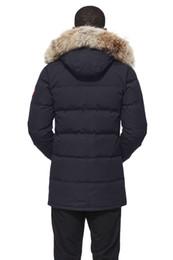 Cuscino d'oca online-Piumino d'oca invernale di marca Cappotto imbottito in cotone da uomo in cotone imbottito invernale Cappotto in poliestere bio-cotone