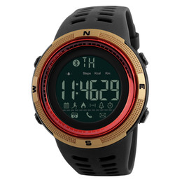 Wholesale Retail Digital Cameras - SKMEI 1250 Smart Watch Sports Watch Bluetooth Waterproof Reminder Digital Wristwatches for Android IOS with Retail Package