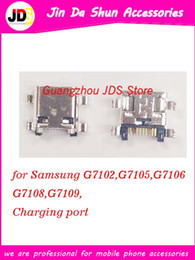 Wholesale Micro Usb Plug Connector - For Samsung G350 I8262D G7102 G7105 G7106 G7109 G7108 Micro USB Charge Charging Connector Plug Dock Socket Port
